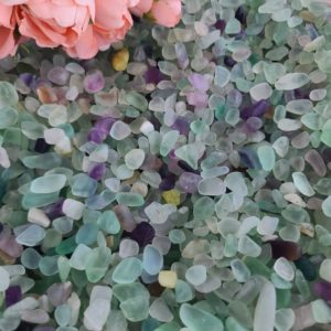 Shop Tumbled Fluorite Crystals & Pocket Stones! Tiny Tumbled Fluorite Chips, Choose Quantity, Small Undrilled Crystal Stones for Jewelry, Decor, or Crystal Grids | Natural genuine stones & crystals in various shapes & sizes. Buy raw cut, tumbled, or polished gemstones for making jewelry or crystal healing energy vibration raising reiki stones. #crystals #gemstones #crystalhealing #crystalsandgemstones #energyhealing #affiliate #ad