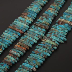 Shop Ocean Jasper Bead Shapes! Full strand Natural Stones Ocean Jasper Top Drilled Slice Beads Necklace Findings,Graduated Raw Jasper Gems Points Pendants Jewelry Supplies | Natural genuine other-shape Ocean Jasper beads for beading and jewelry making.  #jewelry #beads #beadedjewelry #diyjewelry #jewelrymaking #beadstore #beading #affiliate #ad