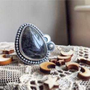 Shop Rainbow Obsidian Rings! Galaxy Statement Ring #3   Natural genuine Rainbow Obsidian rings, simple unique handcrafted gemstone rings. #rings #jewelry #shopping #gift #handmade #fashion #style #affiliate #ad