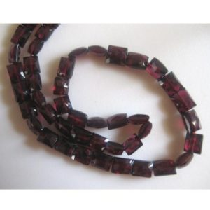 Shop Garnet Bead Shapes! 8-10mm Garnet Chewing Gum Cut ,Faceted Chewing Gum Cut, Rectangle Beads, Garnet For Jewelry, Ganret For Necklace 10 Pieces -GFJGRB | Natural genuine other-shape Garnet beads for beading and jewelry making.  #jewelry #beads #beadedjewelry #diyjewelry #jewelrymaking #beadstore #beading #affiliate #ad