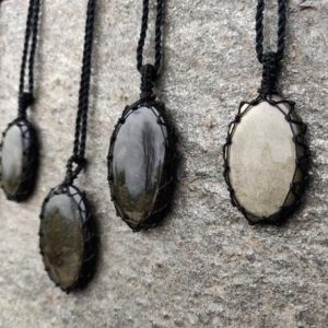 Shop Golden Obsidian Jewelry! Golden-Black Obsidian Pendant for Men and Women, Viking Jewelry, Macrame Gold Sheen Obsidian Necklace, Best Friend Birthday Gift for Him/Her   Natural genuine Golden Obsidian jewelry. Buy handcrafted artisan men's jewelry, gifts for men.  Unique handmade mens fashion accessories. #jewelry #beadedjewelry #beadedjewelry #shopping #gift #handmadejewelry #jewelry #affiliate #ad