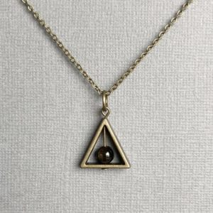 Shop Golden Obsidian Necklaces! Golden Sheen Obsidian Necklace / Triangle Spinner Necklace / Minimalist / Grounding Balancing Protection Necklace / Energy Healing Jewelry | Natural genuine Golden Obsidian necklaces. Buy crystal jewelry, handmade handcrafted artisan jewelry for women.  Unique handmade gift ideas. #jewelry #beadednecklaces #beadedjewelry #gift #shopping #handmadejewelry #fashion #style #product #necklaces #affiliate #ad