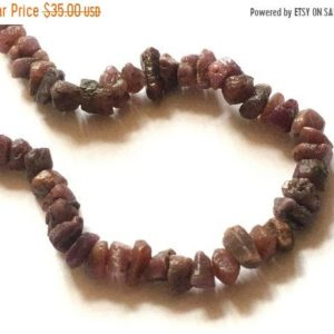 Shop Ruby Chip & Nugget Beads! Good Quality — Natural Ruby Rough Beads , 7 – 8 mm approx , 8 inch strand | Natural genuine chip Ruby beads for beading and jewelry making.  #jewelry #beads #beadedjewelry #diyjewelry #jewelrymaking #beadstore #beading #affiliate #ad