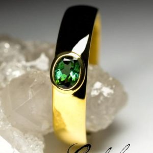 Shop Green Tourmaline Rings! Verdelite Tourmaline Gold Ring Natural LGBTQ wedding gay engagement Green Tourmaline Gemstone 18K Yellow Gold Fine Ring with Jewelry Report | Natural genuine Green Tourmaline rings, simple unique alternative gemstone engagement rings. #rings #jewelry #bridal #wedding #jewelryaccessories #engagementrings #weddingideas #affiliate #ad