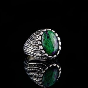 Shop Ruby Zoisite Rings! Green Zoisite Ring, 925 Silver Ring with Natural Stone, Zoisite Stone Ring, Natural Gemstone Ring, Ruby Zoisite Stone, Zoisite Crystal Ring | Natural genuine Ruby Zoisite rings, simple unique handcrafted gemstone rings. #rings #jewelry #shopping #gift #handmade #fashion #style #affiliate #ad