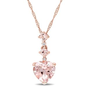 Shop Morganite Necklaces! Heart Shape Morganite Pendant Morganite Necklace Morganite Jewelry in Rose Gold Plated Sterling Silver   Natural genuine Morganite necklaces. Buy crystal jewelry, handmade handcrafted artisan jewelry for women.  Unique handmade gift ideas. #jewelry #beadednecklaces #beadedjewelry #gift #shopping #handmadejewelry #fashion #style #product #necklaces #affiliate #ad
