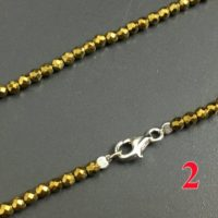 Women Necklace, Men Necklace, Gold Hematite Beads Necklace Jewelry, Chains Necklace 925 Silver Clasper 2mm 3mm 4mm 30'' 40'' | Natural genuine Gemstone jewelry. Buy crystal jewelry, handmade handcrafted artisan jewelry for women.  Unique handmade gift ideas. #jewelry #beadedjewelry #beadedjewelry #gift #shopping #handmadejewelry #fashion #style #product #jewelry #affiliate #ad