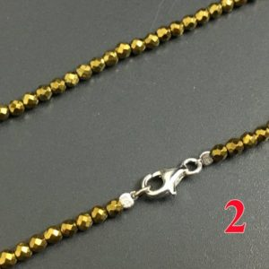 Shop Hematite Necklaces! Women Necklace, Gold Hematite Necklace Jewelry, Beads Chains Necklace 925 Silver Clasper 2mm 3mm 4mm 30'' 40''   Natural genuine Hematite necklaces. Buy crystal jewelry, handmade handcrafted artisan jewelry for women.  Unique handmade gift ideas. #jewelry #beadednecklaces #beadedjewelry #gift #shopping #handmadejewelry #fashion #style #product #necklaces #affiliate #ad