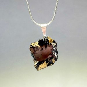 Golden Rutile with Hematite Pendant Necklace | Natural genuine Hematite pendants. Buy crystal jewelry, handmade handcrafted artisan jewelry for women.  Unique handmade gift ideas. #jewelry #beadedpendants #beadedjewelry #gift #shopping #handmadejewelry #fashion #style #product #pendants #affiliate #ad