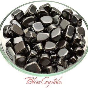 Shop Tumbled Hematite Crystals & Pocket Stones! 1 HEMATITE Tumbled Stone for grounding #HT09   Natural genuine stones & crystals in various shapes & sizes. Buy raw cut, tumbled, or polished gemstones for making jewelry or crystal healing energy vibration raising reiki stones. #crystals #gemstones #crystalhealing #crystalsandgemstones #energyhealing #affiliate #ad