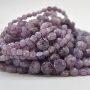 """Shop Lepidolite Faceted Beads! High Quality Grade A Natural Lepidolite Semi-precious Gemstone FACETED Coin Disc Beads – 4mm, 6mm & 8mm  sizes – 15.5"""" strand   Natural genuine faceted Lepidolite beads for beading and jewelry making.  #jewelry #beads #beadedjewelry #diyjewelry #jewelrymaking #beadstore #beading #affiliate #ad"""