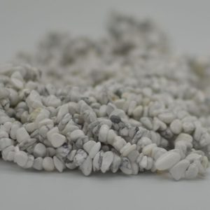 """Shop Howlite Chip & Nugget Beads! High Quality Grade A Natural White Howlite Semi-precious Gemstone Chips Nuggets Beads – 5mm – 8mm, Approx 36"""" Strand 
