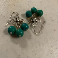 Green Earrings – Silver Jewelry – Howlite Gemstone Jewellery – Fashion – Chandelier | Natural genuine Gemstone jewelry. Buy crystal jewelry, handmade handcrafted artisan jewelry for women.  Unique handmade gift ideas. #jewelry #beadedjewelry #beadedjewelry #gift #shopping #handmadejewelry #fashion #style #product #jewelry #affiliate #ad