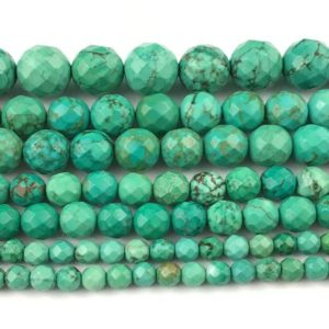 Shop Howlite Faceted Beads! Green Howlite Faceted Beads, Natural Gemstone Beads, Round Stone Beads For Jewelry Making 4mm 6mm 8mm 10mm 12mm | Natural genuine faceted Howlite beads for beading and jewelry making.  #jewelry #beads #beadedjewelry #diyjewelry #jewelrymaking #beadstore #beading #affiliate #ad
