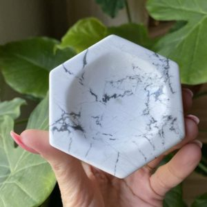 Shop Howlite Shapes! White Howlite Bowl, Dish, Ring Holder, Jewelry Holder | Natural genuine stones & crystals in various shapes & sizes. Buy raw cut, tumbled, or polished gemstones for making jewelry or crystal healing energy vibration raising reiki stones. #crystals #gemstones #crystalhealing #crystalsandgemstones #energyhealing #affiliate #ad