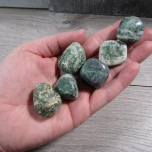 Shop Tumbled Jade Crystals & Pocket Stones! China Jade Large Tumbled Stone T473   Natural genuine stones & crystals in various shapes & sizes. Buy raw cut, tumbled, or polished gemstones for making jewelry or crystal healing energy vibration raising reiki stones. #crystals #gemstones #crystalhealing #crystalsandgemstones #energyhealing #affiliate #ad
