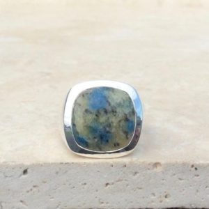 Shop Jasper Rings! Fathers Day Gift, Mens Silver Ring With Stone, K2 Jasper Silver Ring, Large Gemstone Silver Ring, Gift For Dad Or Husband | Natural genuine Jasper mens fashion rings, simple unique handcrafted gemstone men's rings, gifts for men. Anillos hombre. #rings #jewelry #crystaljewelry #gemstonejewelry #handmadejewelry #affiliate #ad