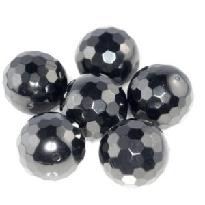 Shop Jet Beads! 19mm Black Jet Gemstone Organic Micro Faceted Round Loose Beads 7.5 inch 10 Beads (90186868-887)   Natural genuine faceted Jet beads for beading and jewelry making.  #jewelry #beads #beadedjewelry #diyjewelry #jewelrymaking #beadstore #beading #affiliate #ad