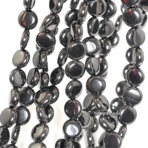 Shop Jet Beads! 12mm Organic Black Jet Gemstone Flat Round Circle Button 12mm Loose Beads 7.5 inch Half Strand (90146575-152)   Natural genuine round Jet beads for beading and jewelry making.  #jewelry #beads #beadedjewelry #diyjewelry #jewelrymaking #beadstore #beading #affiliate #ad