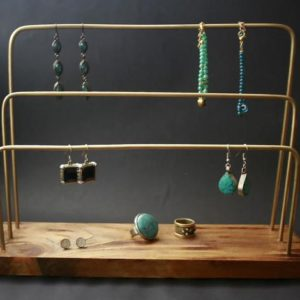 Shop Jewelry Organizers & Earring Racks! Jewelery Stand  Bracelet Necklace Stand jewelry display jewelry organizer earring display Wood Brass Material – home decor | Shop jewelry making and beading supplies, tools & findings for DIY jewelry making and crafts. #jewelrymaking #diyjewelry #jewelrycrafts #jewelrysupplies #beading #affiliate #ad