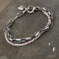 Pink Kunzite And Oxidized Sterling Silver – Bracelet, Modern Raw Oxidized Silver Bracelet – Studioformood, Chain Bracelet | Natural genuine Gemstone jewelry. Buy crystal jewelry, handmade handcrafted artisan jewelry for women.  Unique handmade gift ideas. #jewelry #beadedjewelry #beadedjewelry #gift #shopping #handmadejewelry #fashion #style #product #jewelry #affiliate #ad
