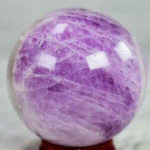 """Kunzite Sphere 2"""" weighs 226 grams beautiful Flash 