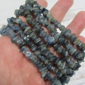 Shop Kyanite Jewelry! Blue Kyanite Stretchy String Bracelet G150 | Natural genuine Kyanite jewelry. Buy crystal jewelry, handmade handcrafted artisan jewelry for women.  Unique handmade gift ideas. #jewelry #beadedjewelry #beadedjewelry #gift #shopping #handmadejewelry #fashion #style #product #jewelry #affiliate #ad