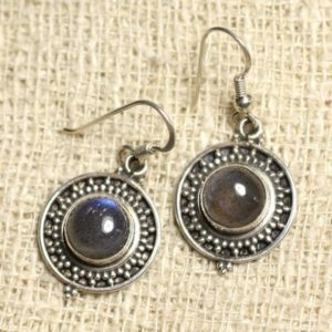 Shop Labradorite Earrings! BO209 – earrings 925 sterling silver and Labradorite 8mm round stone-   Natural genuine Labradorite earrings. Buy crystal jewelry, handmade handcrafted artisan jewelry for women.  Unique handmade gift ideas. #jewelry #beadedearrings #beadedjewelry #gift #shopping #handmadejewelry #fashion #style #product #earrings #affiliate #ad