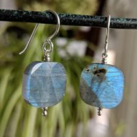 Labradorite Earrings, Geometric Earrings, Square Gemstones With Blue Iridescence, Healing Stones   Natural genuine Gemstone jewelry. Buy crystal jewelry, handmade handcrafted artisan jewelry for women.  Unique handmade gift ideas. #jewelry #beadedjewelry #beadedjewelry #gift #shopping #handmadejewelry #fashion #style #product #jewelry #affiliate #ad