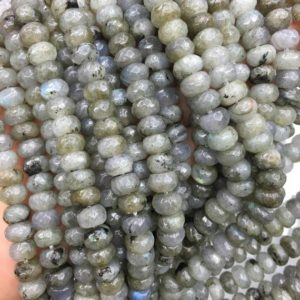 Shop Labradorite Faceted Beads! 8x5mm Faceted Labradorite Rondelle Beads, Gemstone Beads, Wholesale Beads | Natural genuine faceted Labradorite beads for beading and jewelry making.  #jewelry #beads #beadedjewelry #diyjewelry #jewelrymaking #beadstore #beading #affiliate #ad
