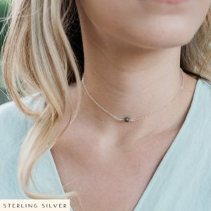 Shop Labradorite Necklaces! Labradorite dainty chain choker. Minimal choker. Chain thin choker. Necklace choker thin. Thin necklace choker. Labradorite choker. | Natural genuine Labradorite necklaces. Buy crystal jewelry, handmade handcrafted artisan jewelry for women.  Unique handmade gift ideas. #jewelry #beadednecklaces #beadedjewelry #gift #shopping #handmadejewelry #fashion #style #product #necklaces #affiliate #ad