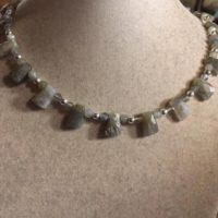 Labradorite Necklace – Gray Gemstone Jewelry – Sterling Silver Jewellery – Beaded – Grey | Natural genuine Gemstone jewelry. Buy crystal jewelry, handmade handcrafted artisan jewelry for women.  Unique handmade gift ideas. #jewelry #beadedjewelry #beadedjewelry #gift #shopping #handmadejewelry #fashion #style #product #jewelry #affiliate #ad
