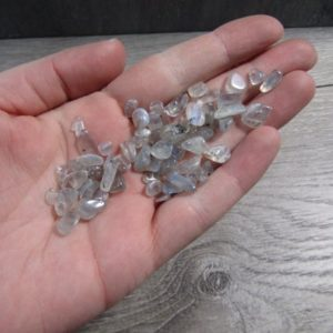 Shop Tumbled Labradorite Crystals & Pocket Stones! Labradorite Tumbled Chip Stone Small Bag T200 | Natural genuine stones & crystals in various shapes & sizes. Buy raw cut, tumbled, or polished gemstones for making jewelry or crystal healing energy vibration raising reiki stones. #crystals #gemstones #crystalhealing #crystalsandgemstones #energyhealing #affiliate #ad
