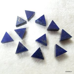 Shop Lapis Lazuli Cabochons! Blue Lapis Triangular Flat 8 Mm 100% Natural Cabochon Aaa Quality Gemstone… | Natural genuine stones & crystals in various shapes & sizes. Buy raw cut, tumbled, or polished gemstones for making jewelry or crystal healing energy vibration raising reiki stones. #crystals #gemstones #crystalhealing #crystalsandgemstones #energyhealing #affiliate #ad