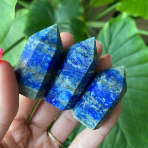 Shop Lapis Lazuli Points & Wands! Lapis tower, lapis lazuli  generator, truth, clarity, intuition   Natural genuine stones & crystals in various shapes & sizes. Buy raw cut, tumbled, or polished gemstones for making jewelry or crystal healing energy vibration raising reiki stones. #crystals #gemstones #crystalhealing #crystalsandgemstones #energyhealing #affiliate #ad