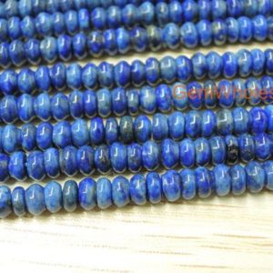 """15.5"""" Natural Lapis lazuli 2x4mm to 5mm roundel beads, high quality genuine Lapis roundel beads, blue DIY stone beads, gemstone wholesaler 