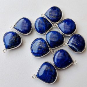Shop Lapis Lazuli Shapes! 16.5mm Lapis Lazuli Bezel Connectors, 5 Pcs Lapis Lazuli 925 Silver Connectors, Heart Shape Both Side Cut Lapis Bezel, Finding – Psg51   Natural genuine stones & crystals in various shapes & sizes. Buy raw cut, tumbled, or polished gemstones for making jewelry or crystal healing energy vibration raising reiki stones. #crystals #gemstones #crystalhealing #crystalsandgemstones #energyhealing #affiliate #ad