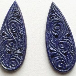 Shop Lapis Lazuli Shapes! 47x18mm Lapis Lazuli Filigree Hand Carved Drilled Matched Pair, Original Lapis Lazuli Carving, Natural Lapis Lazuli For Jewelry   Natural genuine stones & crystals in various shapes & sizes. Buy raw cut, tumbled, or polished gemstones for making jewelry or crystal healing energy vibration raising reiki stones. #crystals #gemstones #crystalhealing #crystalsandgemstones #energyhealing #affiliate #ad