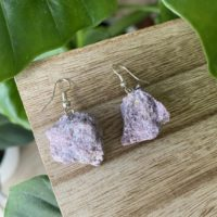 Crystal Earrings, Lepidolite Earrings, Dangle, Hoop, Gemstone | Natural genuine Gemstone jewelry. Buy crystal jewelry, handmade handcrafted artisan jewelry for women.  Unique handmade gift ideas. #jewelry #beadedjewelry #beadedjewelry #gift #shopping #handmadejewelry #fashion #style #product #jewelry #affiliate #ad