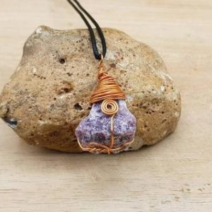 Shop Lepidolite Pendants! Copper Raw Lepidolite pendant. Purple Wire wrapped necklace. Reiki jewelry uk. Libra jewelry. Empowered Crystals.   Natural genuine Lepidolite pendants. Buy crystal jewelry, handmade handcrafted artisan jewelry for women.  Unique handmade gift ideas. #jewelry #beadedpendants #beadedjewelry #gift #shopping #handmadejewelry #fashion #style #product #pendants #affiliate #ad