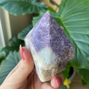Shop Lepidolite Points & Wands! Lepidolite point, calming, soothing, crystal tower   Natural genuine stones & crystals in various shapes & sizes. Buy raw cut, tumbled, or polished gemstones for making jewelry or crystal healing energy vibration raising reiki stones. #crystals #gemstones #crystalhealing #crystalsandgemstones #energyhealing #affiliate #ad
