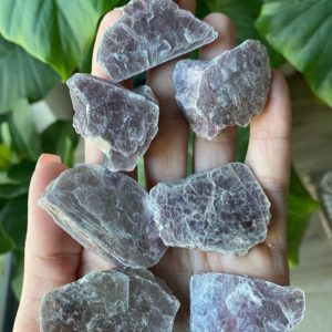 Shop Raw & Rough Lepidolite Stones! raw lepidolite slab, lepidolite chunk, calming, soothing, stress relieving | Natural genuine stones & crystals in various shapes & sizes. Buy raw cut, tumbled, or polished gemstones for making jewelry or crystal healing energy vibration raising reiki stones. #crystals #gemstones #crystalhealing #crystalsandgemstones #energyhealing #affiliate #ad