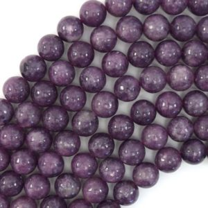 """Shop Lepidolite Round Beads! 10mm Purple Lepidolite Round Beads 15.5"""" Strand 39400 