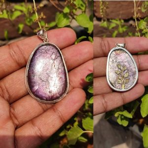 Shop Lepidolite Pendants! LEPIDOLITE silver pandent 925 sterling silver pandent, beautiful natural lepidolite silver pandent tree of life charm on back   Natural genuine Lepidolite pendants. Buy crystal jewelry, handmade handcrafted artisan jewelry for women.  Unique handmade gift ideas. #jewelry #beadedpendants #beadedjewelry #gift #shopping #handmadejewelry #fashion #style #product #pendants #affiliate #ad
