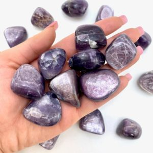 Shop Tumbled Lepidolite Crystals & Pocket Stones! Gem Lepidolite Tumble, Tumbled Gem Lepidolite, Rare Gem Quality Lepidolite, T-95 | Natural genuine stones & crystals in various shapes & sizes. Buy raw cut, tumbled, or polished gemstones for making jewelry or crystal healing energy vibration raising reiki stones. #crystals #gemstones #crystalhealing #crystalsandgemstones #energyhealing #affiliate #ad
