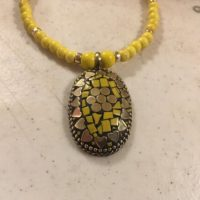 Yellow Necklace – Magnesite Gemstone Jewelry – Gold Jewellery – Pendant – Long – Fashion | Natural genuine Gemstone jewelry. Buy crystal jewelry, handmade handcrafted artisan jewelry for women.  Unique handmade gift ideas. #jewelry #beadedjewelry #beadedjewelry #gift #shopping #handmadejewelry #fashion #style #product #jewelry #affiliate #ad