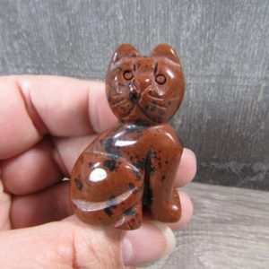 Shop Mahogany Obsidian Shapes! Mahogany Obsidian 2 inch Cat Figurine Fig109   Natural genuine stones & crystals in various shapes & sizes. Buy raw cut, tumbled, or polished gemstones for making jewelry or crystal healing energy vibration raising reiki stones. #crystals #gemstones #crystalhealing #crystalsandgemstones #energyhealing #affiliate #ad