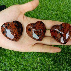 """Shop Mahogany Obsidian Shapes! Mahogany Obsidian Heart Puffy Large 40mm (1.5"""")   Natural genuine stones & crystals in various shapes & sizes. Buy raw cut, tumbled, or polished gemstones for making jewelry or crystal healing energy vibration raising reiki stones. #crystals #gemstones #crystalhealing #crystalsandgemstones #energyhealing #affiliate #ad"""