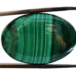 Shop Malachite Cabochons! Malachite Crystal Cabochon (27mm x 18mm x 5mm) – Oval Stone – Natural Loose Gem | Natural genuine stones & crystals in various shapes & sizes. Buy raw cut, tumbled, or polished gemstones for making jewelry or crystal healing energy vibration raising reiki stones. #crystals #gemstones #crystalhealing #crystalsandgemstones #energyhealing #affiliate #ad