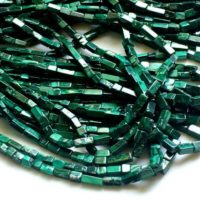 5-8mm Malachite Plain Rectangle Brick Beads, Natural Malachite, Malachite For Necklace, Malachite Beads Rectangle Box (1strand To 5strands) | Natural genuine Gemstone jewelry. Buy crystal jewelry, handmade handcrafted artisan jewelry for women.  Unique handmade gift ideas. #jewelry #beadedjewelry #beadedjewelry #gift #shopping #handmadejewelry #fashion #style #product #jewelry #affiliate #ad